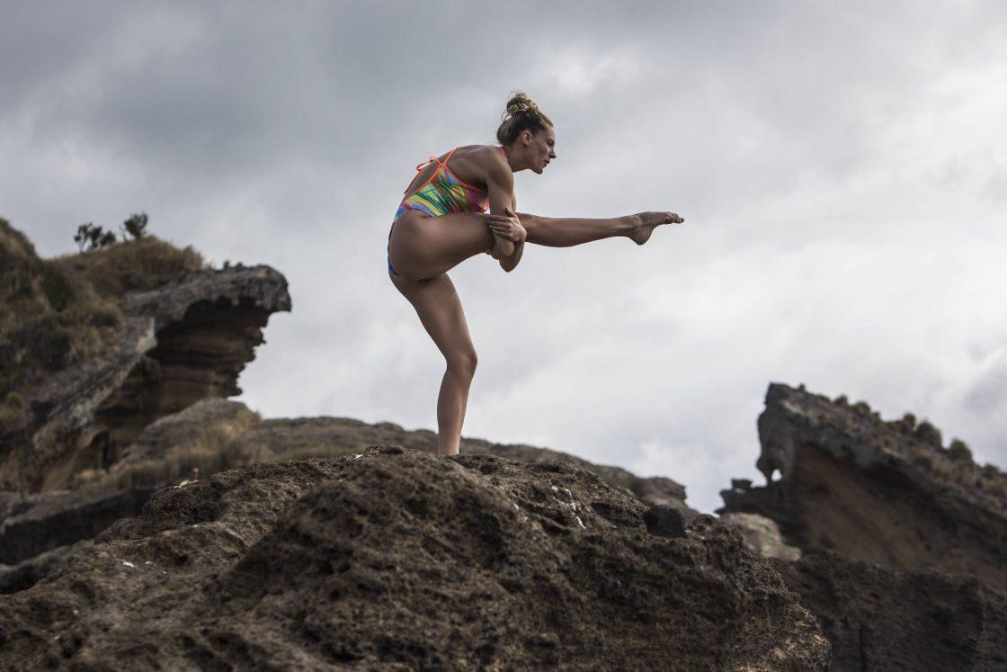 Jessica Macaulay makes stretching