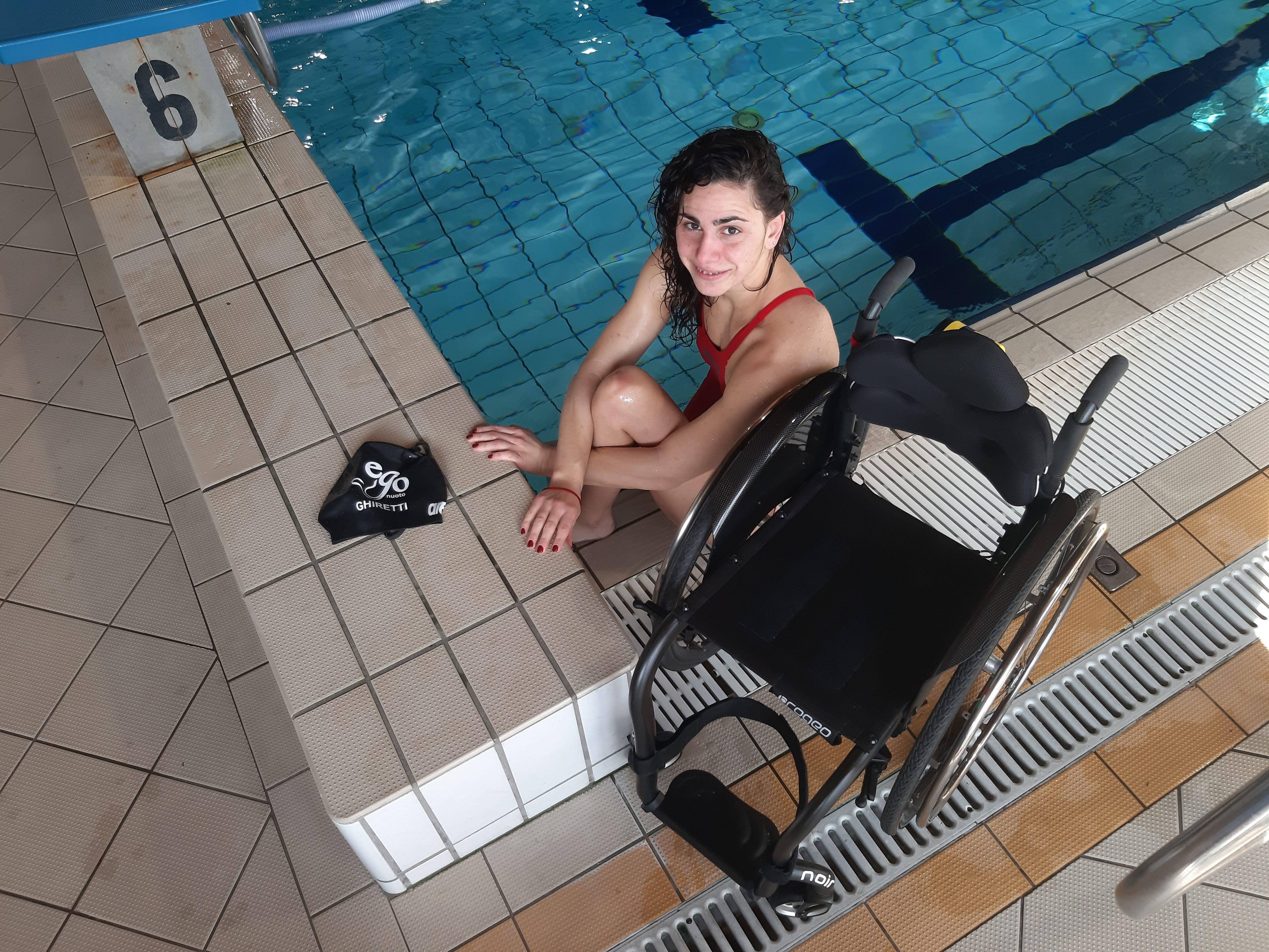 Giulia Ghiretti pronta per le World Series di nuoto paralimpico