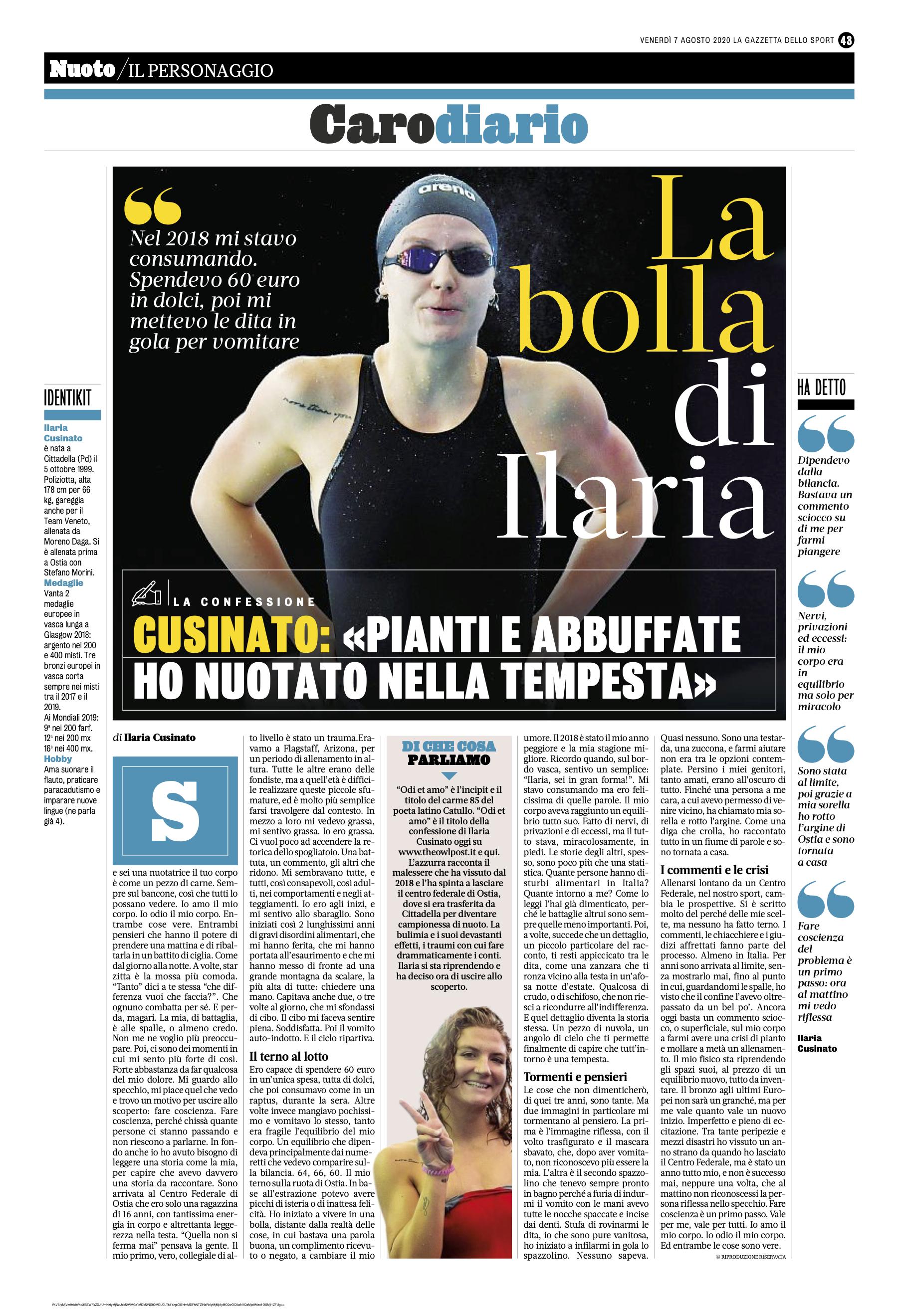 Ilaria Cusinato si confessa a The Owl Post