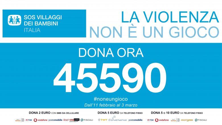 Dona ora al 45590 a favore di SOS Villaggi dei Bambini