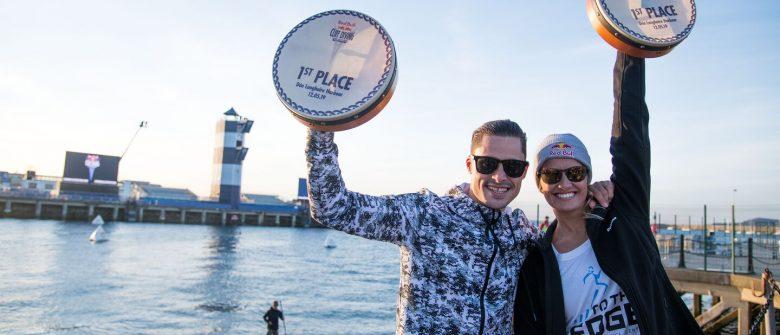 Constantin Popovici e Rhiannan Iffland festeggiano i reciproci successi alla tappa irlandese della Red Bull Cliff Diving World Series